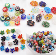 20PCS Mixed Round MILLEFIORI Glass BEADS - Choose 6/8/10/13mm Jewelry Finding