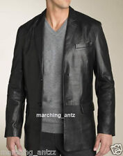 New Soft Genuine Leather Lambskin Motorcycle Biker Jacket Blazer Bomber Coat 404