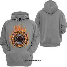 Jersey capucha/Sudadera gris Bomberos Firefighter Modelo firefighter