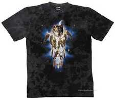 T-SHIRT BATIK BLACK Animale Deserto & Motivo Natura modello WOLF dreamcatchers