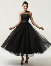 New Vintage Women Bridesmaid Formal Dress Cocktail Party Prom Wedding Gowns Long