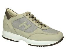 Sneakers Hogan Interactive uomo in suede beige
