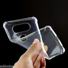 Clear Transparent flexible TPU back case cover for LG V20 Dual H990DS , H990N