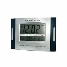 Kadio KD-3809 Digital Wall / Desk Clock with Temperature