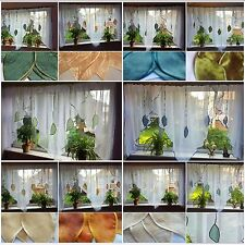 SALE - Ready Made Voile Net Curtains Panel Window Decoration-FIRANY FIRANKI