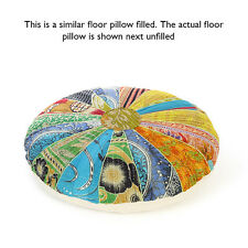 "LARGE SELECTION - 17"" KANTHA DECORATIVE FLOOR SEATING PILLOW CUSHION COVER India"