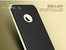 Ipaky Gold Bumper+Rubber Black Back Cover Case For Apple iPhone 7 Plus(5.5 inch)