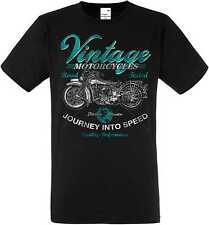 T-Shirt Black HD Biker Chopper & Old schooldruck Model Vintage Motorcycles