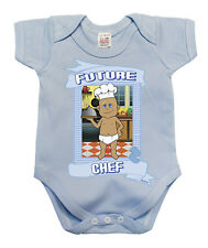 BritTot Baby Grow Future CHEF Funny Unique Boys COOK Vest Baby Shower