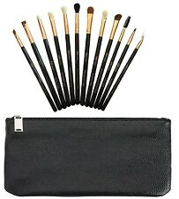 Zoe LONDON eye make up brush and make up brushes set with clutch pouch and box