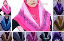 Pull On Ready Made One Piece Chiffon  Glitter Hijab Long Shawl Scarf Pashmina
