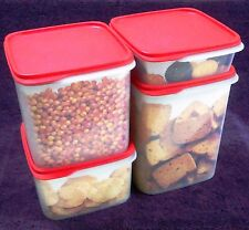 Tupperware - Smart Storer - M.M.Square - dry storage container set with RED lid