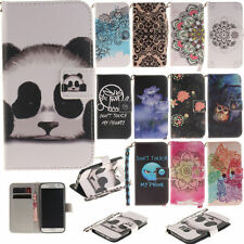 For LG Apple Huawei Sony Phones Case PU Leather Protective Patterns Wallet Cover