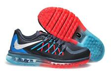 Branded Export Surplus NIKE Sports  Airmax 2015 Blue Red breathe shoes For Men