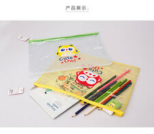 Cute Owl Clear Plastic Pencil Case Transparent Stationery Bag Cosmetic Make Up