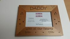Personalised Granda Wooden Photo Frame Birthday, Granfather  - gift, We Love You