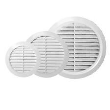 """White Circle Grille Air Vent 100mm 125mm 4"""" 5"""" 6"""" Ducting Ventilation Cover Grid"""