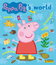 PEPPA PIG'S WORLD STICKER COLLECTION ALBUM & ALL STICKERS TO COMPLETE THE ALBUM