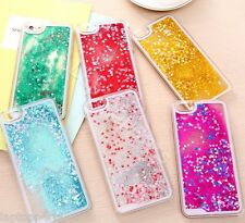Glitter Bling Hearts Liquid Colourful Case Cover For iPhone 6S 6 6S Plus 6 Plus