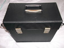 "Classic Retro Record Case (UK shipping only)-To Hold 30 12""singles / LPs 1970s B"