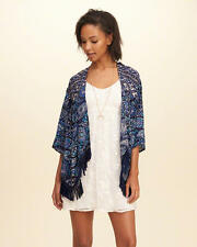 Abercrombie & Fitch - Hollister Womens Kimono Blouse Top Jacket S M L Navy NWT