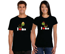 Cute Him Her Turtle Couple Tshirts for Men and Women Set of 2 by Giftsmate