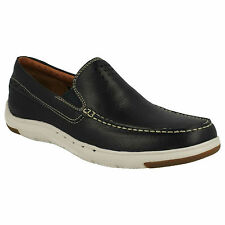 UNMASLOW EASY MENS UNSTRUCTURED CLARKS LEATHER GUSSET CASUAL LOAFER SLIPON SHOES