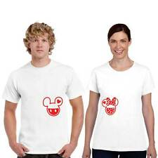 Cute Mickey Minnie Couple Tshirts for Men and Women Set of 2 by Giftsmate