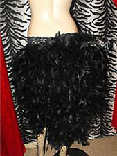 Burlesque Feather Skirt Showgirl Tie On Bustle 8-24 White Red Black Pink Purple