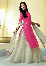 Shanaya Pink Straight Silk Kurti / Kurta with Dupatta