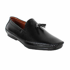 YELLOW TREE HIGH QUALITY CASUAL BLACK LOAFERS SLIP ONS SHOES FOR MEN'S (8303)