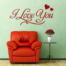 I Love You - Romantic Wall Quote Decal / Stylish Vinyl Love Quote Transfer DAQ40