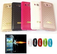 Mobile Phone Back Cover Case for + Tempered Glass + LED Watch FREE Worth RS 250