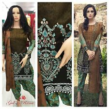 NEW Pakistani Shalwar Kameez Stitched LINEN Embroidered DGS1169
