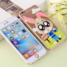 Night Glow Bunny Protective Soft Cover Case For Apple iPhone 5/5s, 6/6s, 7,7Plus