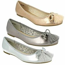 LADIES WOMENS SPOT ON SLIP ON DOLLY BALLERINA  FLATS SHOES F80198