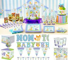 Woodland Baby Party Decoration Tableware Supplies Plates Cups Napkins