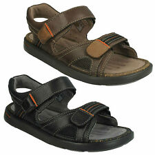 f2ee9fbd7a2 UNWILMORE SUN MENS CLARKS UNSTRUCTURED RIPTAPE BEACH SHOES CASUAL LEATHER  SANDAL