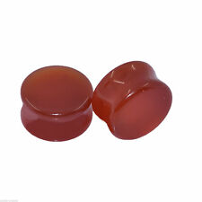 Plugs Piercing Tunnel/Plug 6,0-16,0mm Red Agate Stein