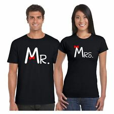 Mr. and Mrs. Couple Tshirts for Men and Women Set of 2 by Giftsmate
