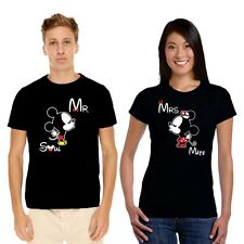 Soulmate Mr Mrs Mickey Minnie Couple Tshirts for Men and Women Set of 2