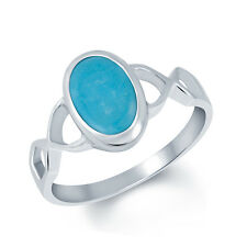 Turquoise Firoza Silver Certified Gemstone Ring 92.5 sterling Silver