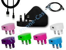 COLOR USB MAINS CHARGER USB CABLE CHARGER IPHONE 5s 5c 5G 5 ipad air mini IPOD