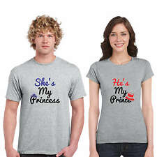 Prince Princess Couple Tshirts for Men and Women Set of 2 by Giftsmate