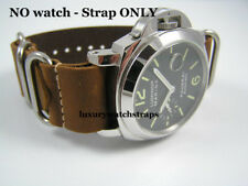 BEAUTIFUL HANDMADE LEATHER NATO® WATCH STRAP FOR PANERAI WATCHES BROWN 24mm