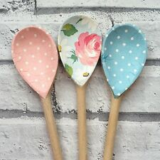 Decoupage Wooden Spoons using Cath Kidston designs;shabby chic,homeware,floral