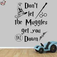 Harry Potter Don't Let the Muggles Style Quote Vinyl Wall Art Sticker Quote