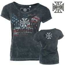 WEST COAST CHOPPERS MUJER CAMISETA Patriot Woman Tee Moto Chica Top S M L XL