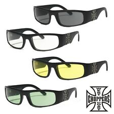 WEST COAST CHOPPERS Gafas de sol WCC ORIGINAL CROSS Sol Gafas moto custom NUEVO