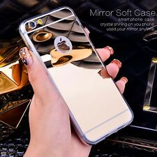 New soft tpu gel mirror plating case cover for apple iphone 5 5s